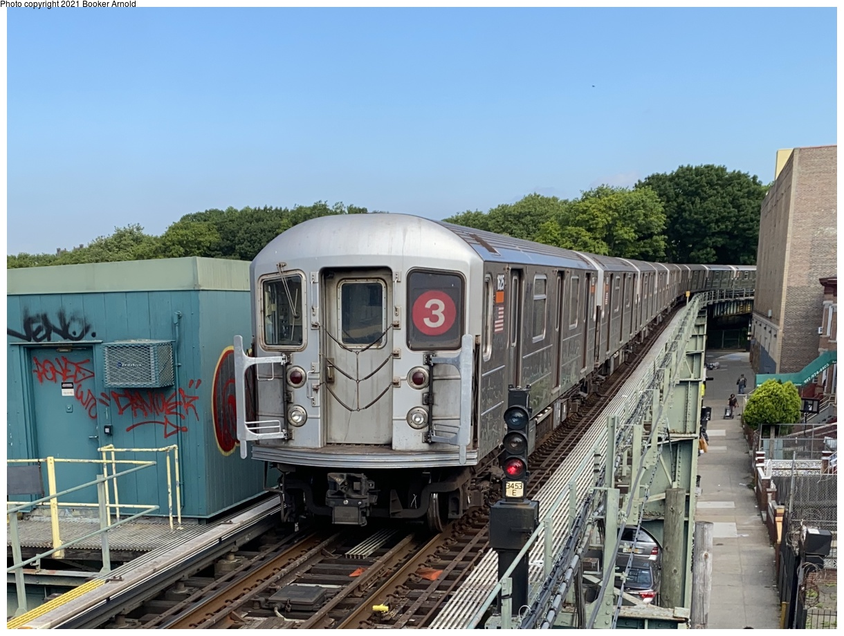 (381k, 1220x920)<br><b>Country:</b> United States<br><b>City:</b> New York<br><b>System:</b> New York City Transit<br><b>Line:</b> IRT Brooklyn Line<br><b>Location:</b> Sutter Avenue/Rutland Road<br><b>Route:</b> 3<br><b>Car:</b> R-62 (Kawasaki, 1983-1985) 1625 <br><b>Photo by:</b> Booker Arnold<br><b>Date:</b> 6/19/2020<br><b>Notes:</b> Highest numbered R-62.<br><b>Viewed (this week/total):</b> 3 / 1051