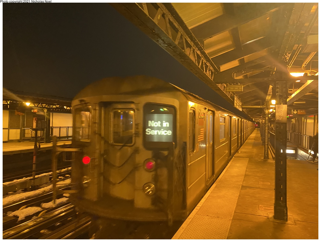 (328k, 1220x920)<br><b>Country:</b> United States<br><b>City:</b> New York<br><b>System:</b> New York City Transit<br><b>Line:</b> IRT White Plains Road Line<br><b>Location:</b> 238th Street (Nereid Avenue)<br><b>Car:</b> R-62A (Bombardier, 1984-1987) 2416 <br><b>Photo by:</b> Nicholas Noel<br><b>Date:</b> 2/10/2021<br><b>Viewed (this week/total):</b> 0 / 118
