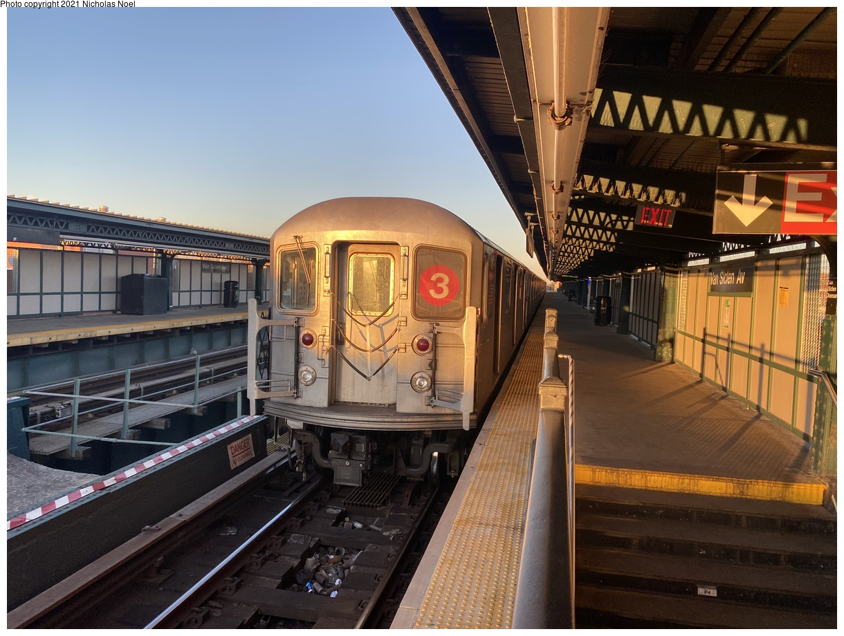 (391k, 1220x920)<br><b>Country:</b> United States<br><b>City:</b> New York<br><b>System:</b> New York City Transit<br><b>Line:</b> IRT Brooklyn Line<br><b>Location:</b> Van Siclen Avenue<br><b>Route:</b> 3<br><b>Car:</b> R-62 (Kawasaki, 1983-1985) 1416 <br><b>Photo by:</b> Nicholas Noel<br><b>Date:</b> 2/26/2021<br><b>Viewed (this week/total):</b> 0 / 85