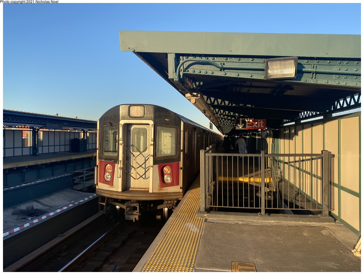 (374k, 1220x920)<br><b>Country:</b> United States<br><b>City:</b> New York<br><b>System:</b> New York City Transit<br><b>Line:</b> IRT Brooklyn Line<br><b>Location:</b> Van Siclen Avenue<br><b>Route:</b> 4<br><b>Car:</b> R-142A (Supplemental Order, Kawasaki, 2003-2004) 7756 <br><b>Photo by:</b> Nicholas Noel<br><b>Date:</b> 2/26/2021<br><b>Viewed (this week/total):</b> 0 / 118