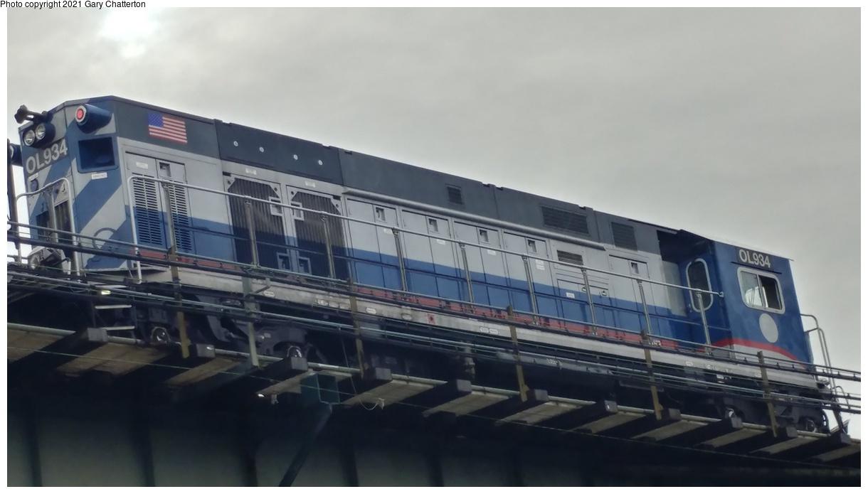 (203k, 1220x695)<br><b>Country:</b> United States<br><b>City:</b> New York<br><b>System:</b> New York City Transit<br><b>Line:</b> IRT Flushing Line<br><b>Location:</b> Between 52nd & 61st (56th & Roosevelt)<br><b>Route:</b> Work Service<br><b>Car:</b> R-156 Diesel-Electric Locomotive (MPI, 2012-2013) 934 <br><b>Photo by:</b> Gary Chatterton<br><b>Date:</b> 1/28/2018<br><b>Viewed (this week/total):</b> 0 / 125