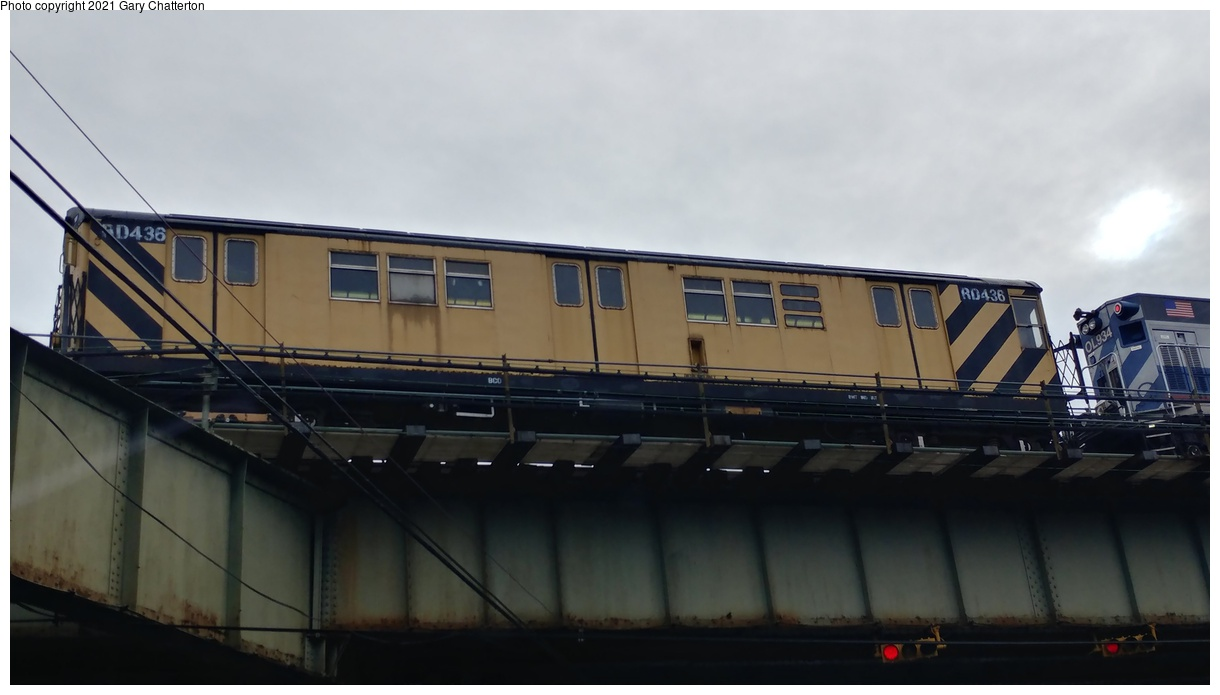 (183k, 1220x695)<br><b>Country:</b> United States<br><b>City:</b> New York<br><b>System:</b> New York City Transit<br><b>Line:</b> IRT Flushing Line<br><b>Location:</b> Between 52nd & 61st (56th & Roosevelt)<br><b>Route:</b> Work Service<br><b>Car:</b> R-161 Rider Car (ex-R-33) RD436 <br><b>Photo by:</b> Gary Chatterton<br><b>Date:</b> 1/28/2018<br><b>Viewed (this week/total):</b> 0 / 117