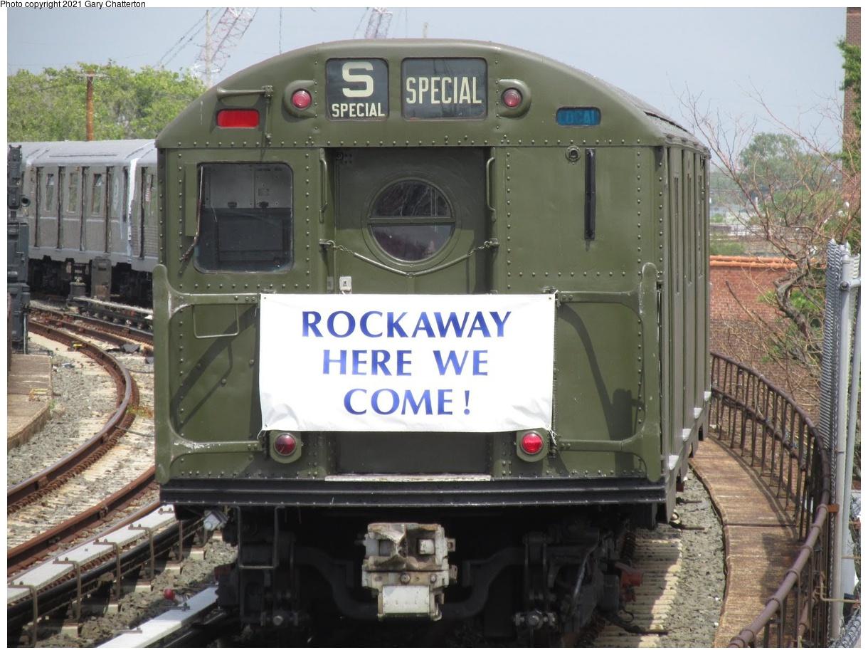 (376k, 1220x920)<br><b>Country:</b> United States<br><b>City:</b> New York<br><b>System:</b> New York City Transit<br><b>Line:</b> IND Rockaway Line<br><b>Location:</b> Beach 90th Street/Holland<br><b>Route:</b> Fan Trip<br><b>Car:</b> R-16 (American Car & Foundry, 1955) 6387 <br><b>Photo by:</b> Gary Chatterton<br><b>Date:</b> 8/3/2014<br><b>Notes:</b> Train of Many Metals fantrip.<br><b>Viewed (this week/total):</b> 0 / 549