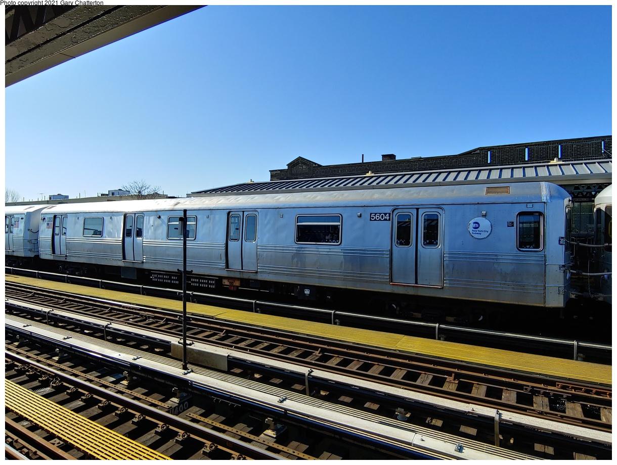 (1124k, 1220x920)<br><b>Country:</b> United States<br><b>City:</b> New York<br><b>System:</b> New York City Transit<br><b>Line:</b> BMT Astoria Line<br><b>Location:</b> Broadway<br><b>Route:</b> N<br><b>Car:</b> R-46 (Pullman-Standard, 1974-75) 5604 <br><b>Photo by:</b> Gary Chatterton<br><b>Date:</b> 2/23/2020<br><b>Viewed (this week/total):</b> 23 / 131