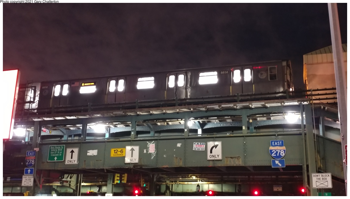 (258k, 1220x695)<br><b>Country:</b> United States<br><b>City:</b> New York<br><b>System:</b> New York City Transit<br><b>Line:</b> BMT Astoria Line<br><b>Location:</b> Astoria Boulevard/Hoyt Avenue<br><b>Route:</b> N<br><b>Car:</b> R-160B (Kawasaki, 2005-2008) 8858 <br><b>Photo by:</b> Gary Chatterton<br><b>Date:</b> 3/14/2019<br><b>Viewed (this week/total):</b> 0 / 568