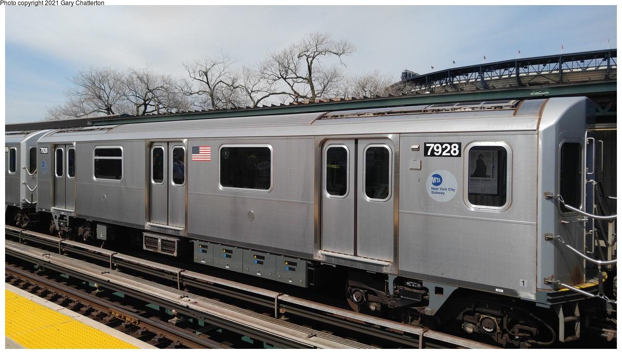 (301k, 1220x695)<br><b>Country:</b> United States<br><b>City:</b> New York<br><b>System:</b> New York City Transit<br><b>Line:</b> IRT Flushing Line<br><b>Location:</b> Willets Point/Mets (fmr. Shea Stadium)<br><b>Route:</b> 7<br><b>Car:</b> R-188 (Kawasaki, 2012-) 7928 <br><b>Photo by:</b> Gary Chatterton<br><b>Date:</b> 4/3/2017<br><b>Viewed (this week/total):</b> 0 / 355