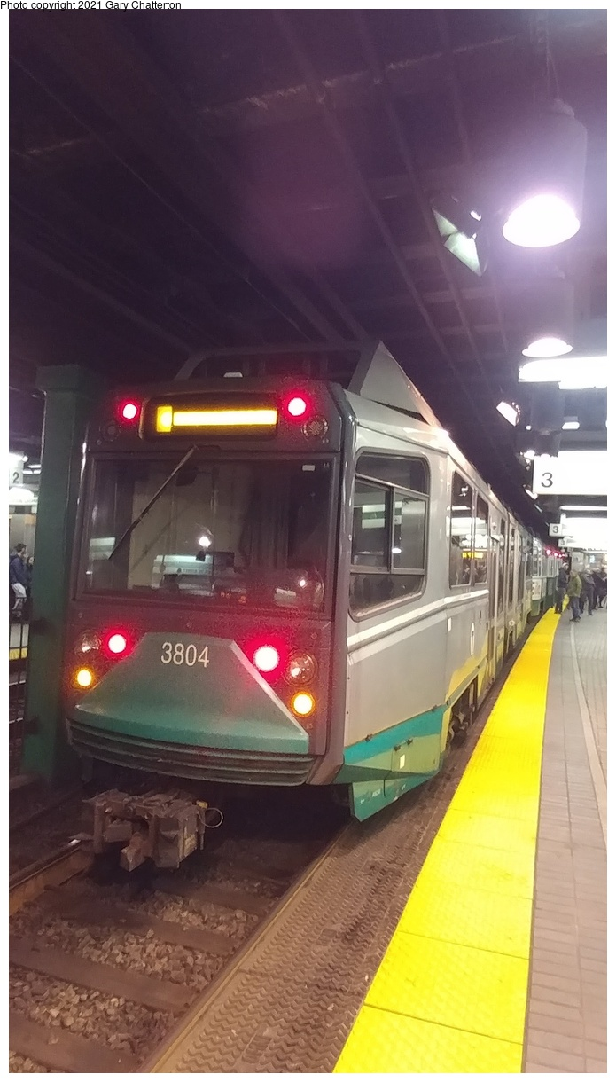 (250k, 695x1220)<br><b>Country:</b> United States<br><b>City:</b> Boston, MA<br><b>System:</b> MBTA<br><b>Line:</b> MBTA Green<br><b>Location:</b> Park Street<br><b>Car:</b> MBTA Type 8 LRV (Breda, 1998-2006) 3804 <br><b>Photo by:</b> Gary Chatterton<br><b>Date:</b> 4/27/2018<br><b>Viewed (this week/total):</b> 4 / 28