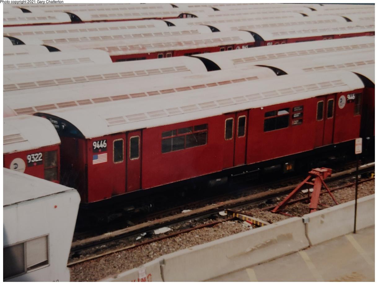 (976k, 1220x920)<br><b>Country:</b> United States<br><b>City:</b> New York<br><b>System:</b> New York City Transit<br><b>Location:</b> Corona Yard<br><b>Car:</b> R-36 World's Fair (St. Louis, 1963-64) 9446 <br><b>Photo by:</b> Gary Chatterton<br><b>Date:</b> 2000<br><b>Viewed (this week/total):</b> 3 / 98