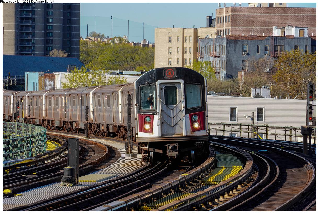 (706k, 1220x820)<br><b>Country:</b> United States<br><b>City:</b> New York<br><b>System:</b> New York City Transit<br><b>Line:</b> IRT Woodlawn Line<br><b>Location:</b> Bedford Park Boulevard<br><b>Route:</b> 4<br><b>Car:</b> R-142A (Primary Order, Kawasaki, 1999-2002) 7810 <br><b>Photo by:</b> DeAndre Burrell<br><b>Date:</b> 4/23/2021<br><b>Viewed (this week/total):</b> 0 / 340