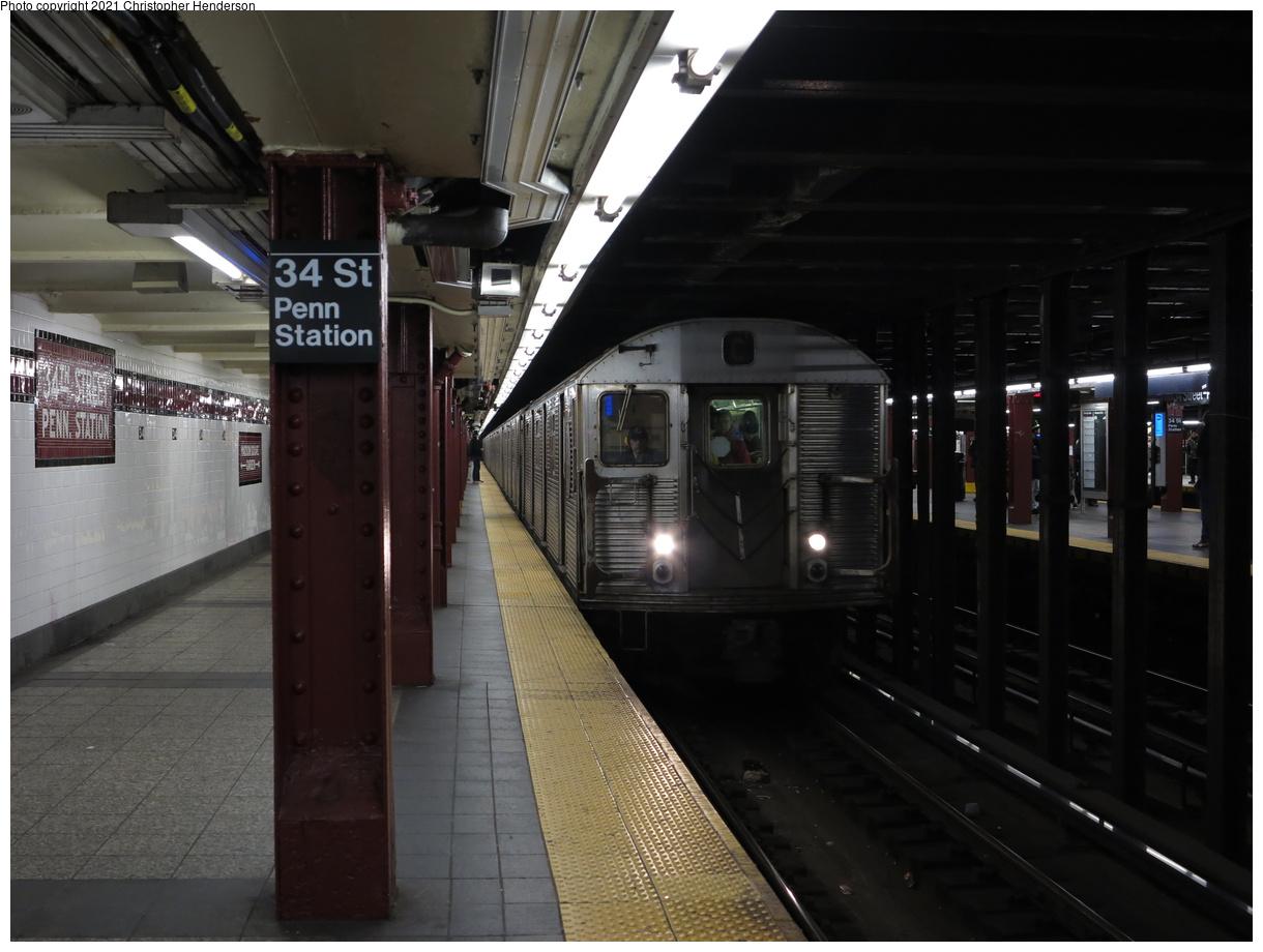 (323k, 1220x920)<br><b>Country:</b> United States<br><b>City:</b> New York<br><b>System:</b> New York City Transit<br><b>Line:</b> IND 8th Avenue Line<br><b>Location:</b> 34th Street/Penn Station<br><b>Route:</b> C<br><b>Car:</b> R-32 (Budd, 1964) 3396 <br><b>Photo by:</b> Christopher Henderson<br><b>Date:</b> 1/1/2020<br><b>Viewed (this week/total):</b> 16 / 67