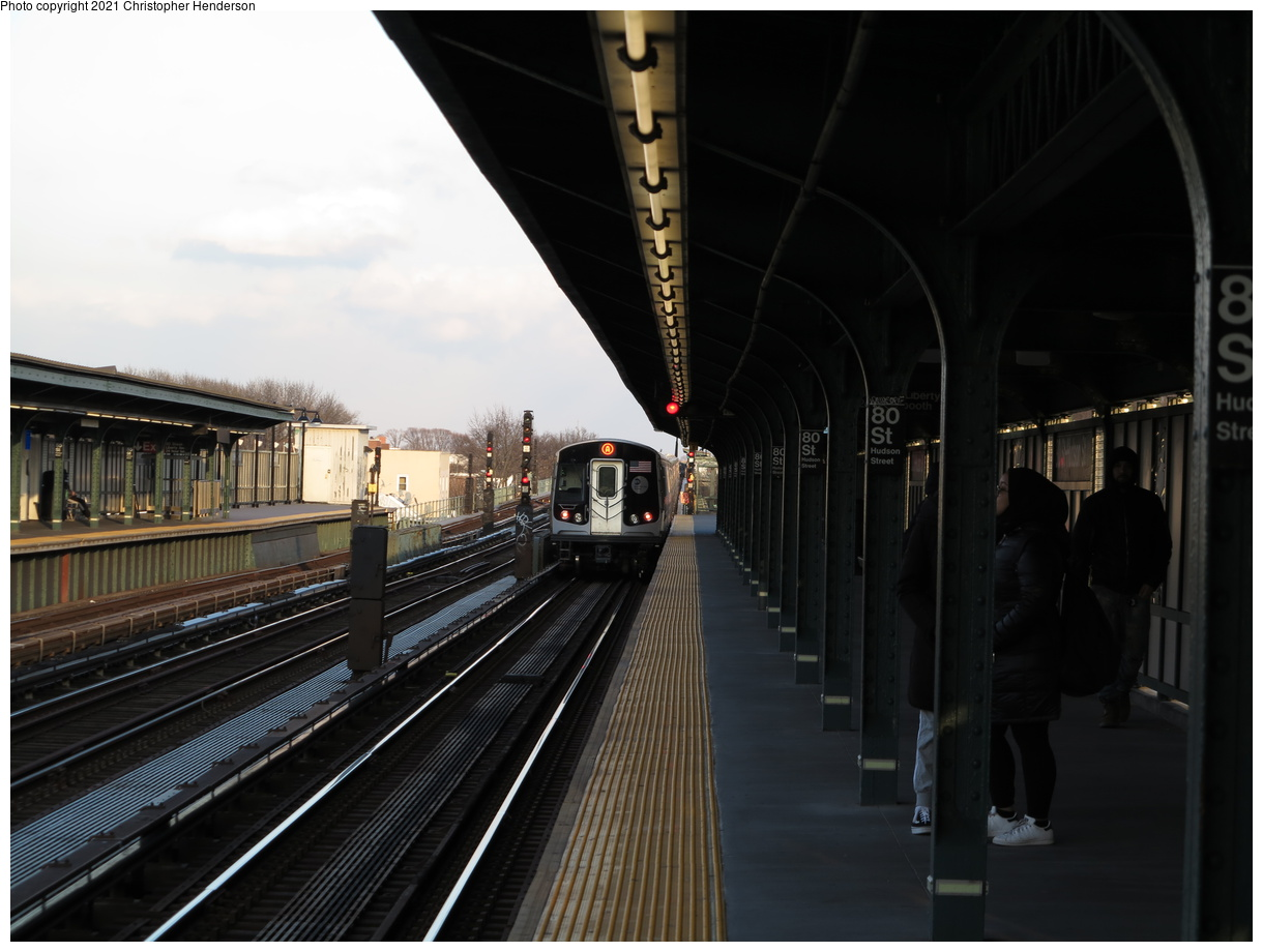 (308k, 1220x920)<br><b>Country:</b> United States<br><b>City:</b> New York<br><b>System:</b> New York City Transit<br><b>Line:</b> IND Fulton Street Line<br><b>Location:</b> 80th Street-Hudson Street<br><b>Route:</b> A<br><b>Car:</b> R-160A/R-160B Series (Number Unknown)  <br><b>Photo by:</b> Christopher Henderson<br><b>Date:</b> 2/28/2020<br><b>Viewed (this week/total):</b> 0 / 131