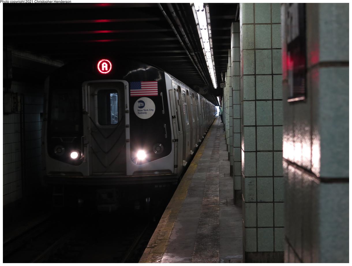 (259k, 1220x920)<br><b>Country:</b> United States<br><b>City:</b> New York<br><b>System:</b> New York City Transit<br><b>Line:</b> IND Fulton Street Line<br><b>Location:</b> Grant Avenue<br><b>Route:</b> A<br><b>Car:</b> R-160A/R-160B Series (Number Unknown)  <br><b>Photo by:</b> Christopher Henderson<br><b>Date:</b> 6/8/2020<br><b>Viewed (this week/total):</b> 14 / 52