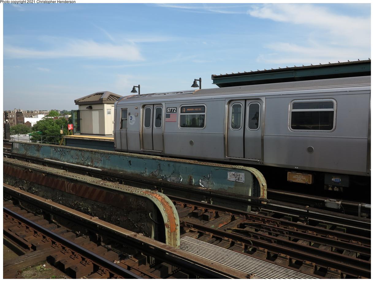 (377k, 1220x920)<br><b>Country:</b> United States<br><b>City:</b> New York<br><b>System:</b> New York City Transit<br><b>Line:</b> IND Fulton Street Line<br><b>Location:</b> 80th Street-Hudson Street<br><b>Route:</b> A<br><b>Car:</b> R-160A (Option 2) (Alstom, 2009, 5-car sets) 9772 <br><b>Photo by:</b> Christopher Henderson<br><b>Date:</b> 6/10/2020<br><b>Viewed (this week/total):</b> 13 / 59