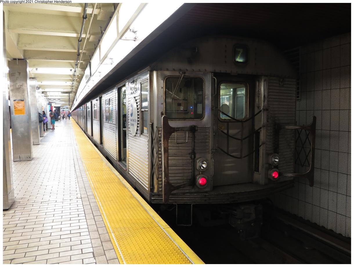 (400k, 1220x920)<br><b>Country:</b> United States<br><b>City:</b> New York<br><b>System:</b> New York City Transit<br><b>Line:</b> BMT Nassau Street-Jamaica Line<br><b>Location:</b> Sutphin Blvd.-Archer Ave./JFK<br><b>Route:</b> Z<br><b>Car:</b> R-32 (Budd, 1964) 3489 <br><b>Photo by:</b> Christopher Henderson<br><b>Date:</b> 7/1/2020<br><b>Viewed (this week/total):</b> 0 / 101