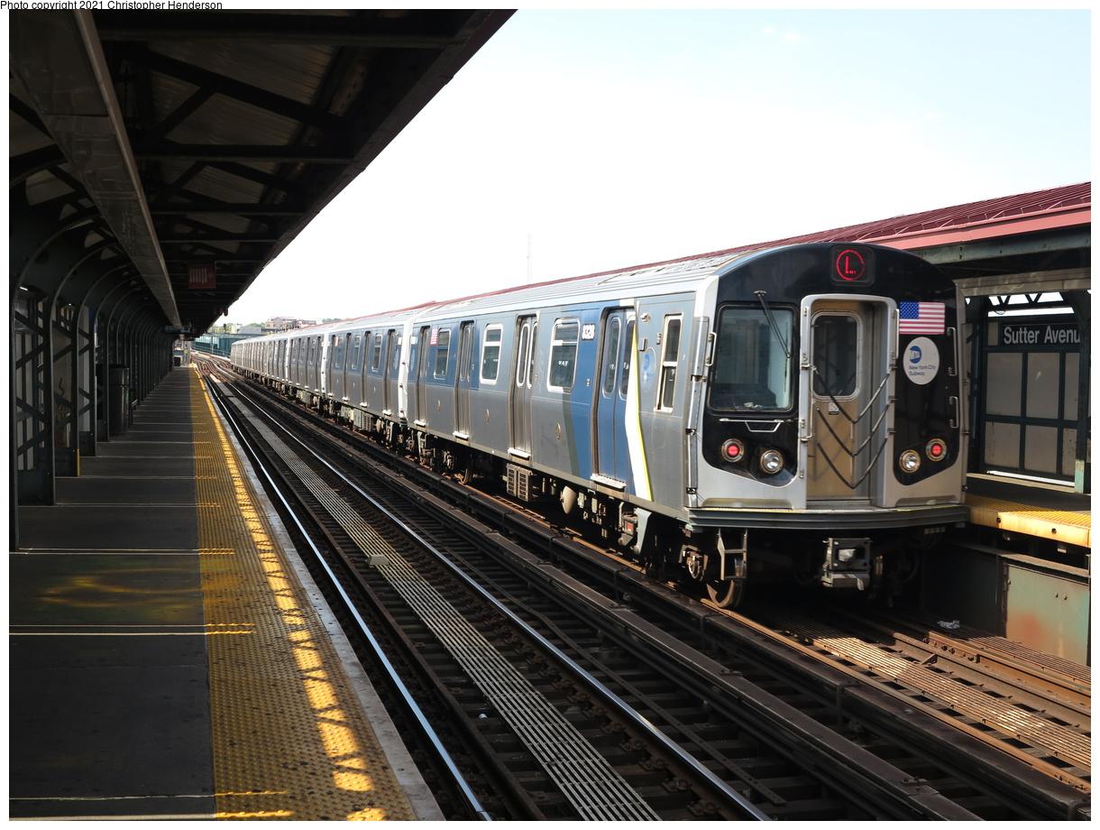 (407k, 1220x920)<br><b>Country:</b> United States<br><b>City:</b> New York<br><b>System:</b> New York City Transit<br><b>Line:</b> BMT Canarsie Line<br><b>Location:</b> Sutter Avenue<br><b>Route:</b> L<br><b>Car:</b> R-160A-1 (Alstom, 2005-2008, 4 car sets) 8328 <br><b>Photo by:</b> Christopher Henderson<br><b>Date:</b> 7/5/2020<br><b>Viewed (this week/total):</b> 8 / 39