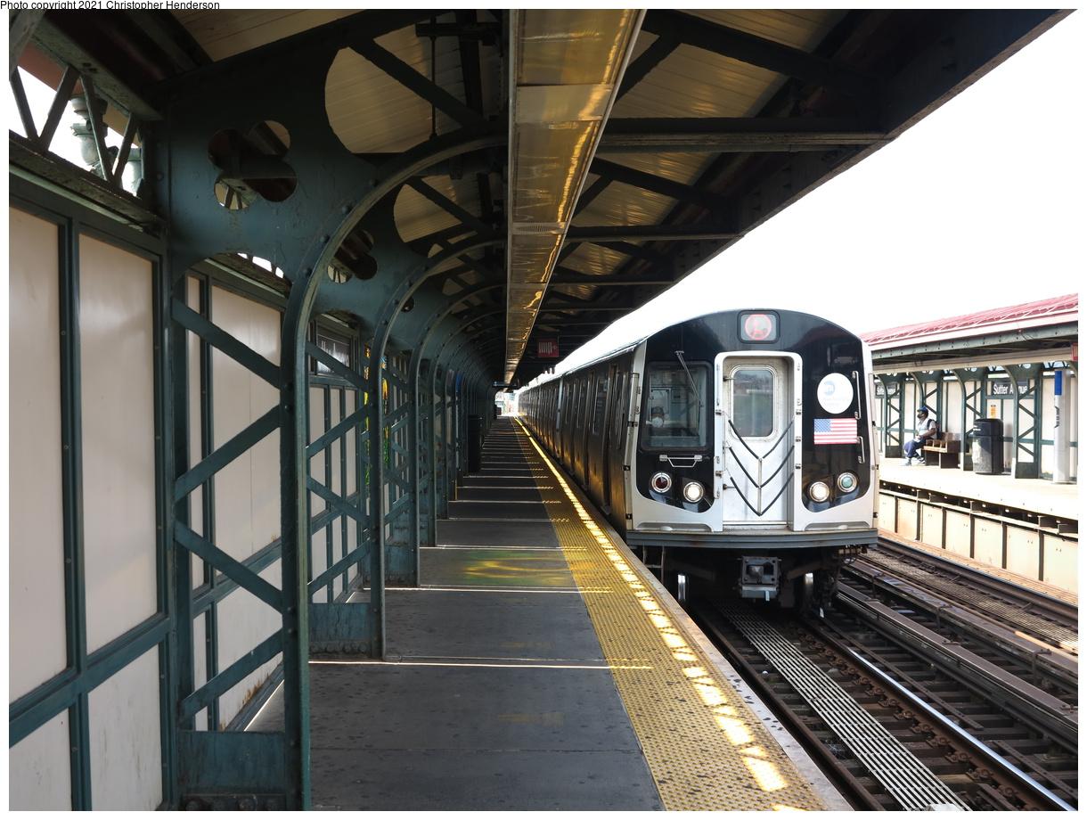 (416k, 1220x920)<br><b>Country:</b> United States<br><b>City:</b> New York<br><b>System:</b> New York City Transit<br><b>Line:</b> BMT Canarsie Line<br><b>Location:</b> Sutter Avenue<br><b>Route:</b> L<br><b>Car:</b> R-143 (Kawasaki, 2001-2002) 8252 <br><b>Photo by:</b> Christopher Henderson<br><b>Date:</b> 7/5/2020<br><b>Viewed (this week/total):</b> 6 / 29