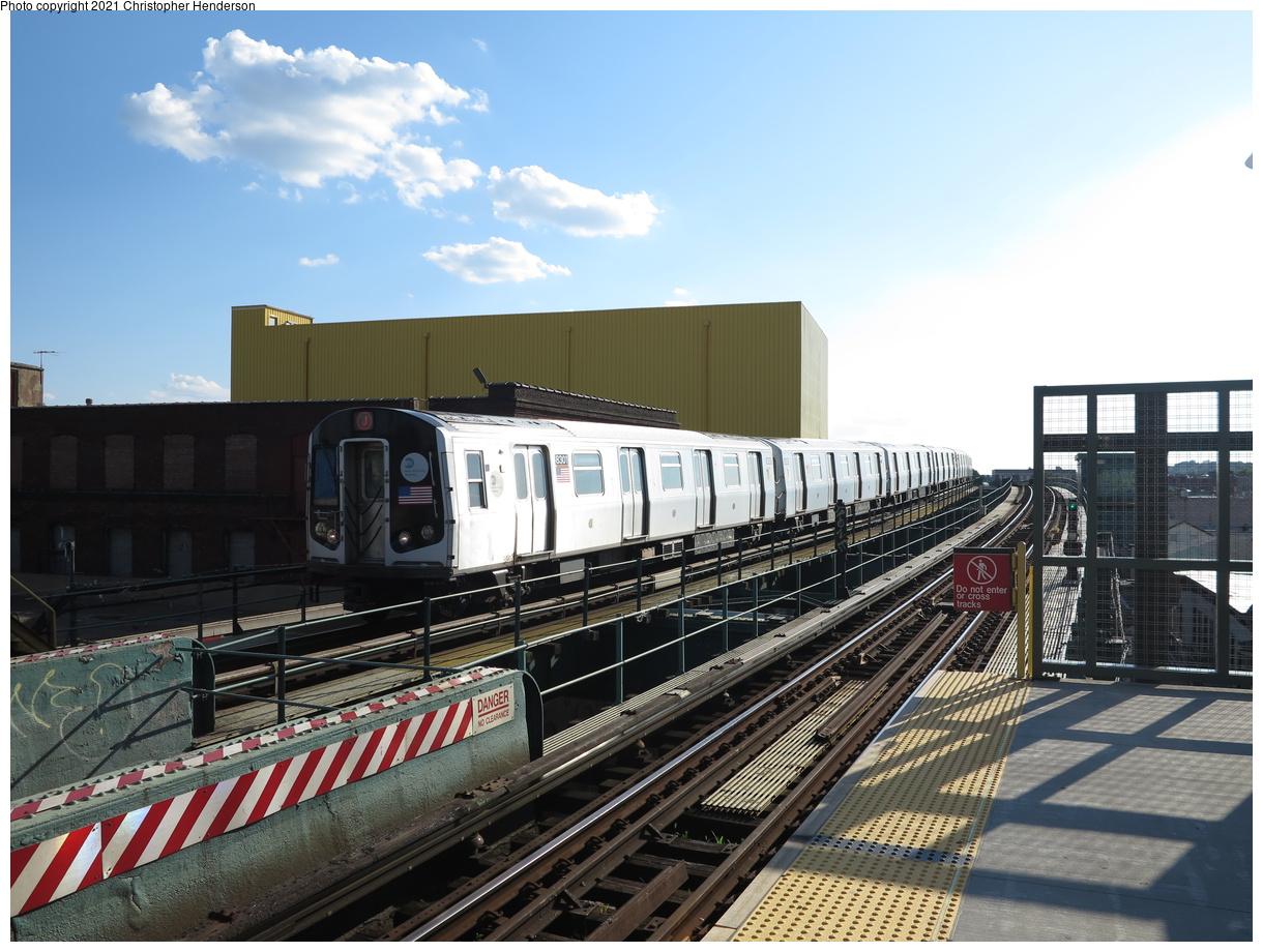 (409k, 1220x920)<br><b>Country:</b> United States<br><b>City:</b> New York<br><b>System:</b> New York City Transit<br><b>Line:</b> BMT Nassau Street-Jamaica Line<br><b>Location:</b> 121st Street<br><b>Route:</b> J<br><b>Car:</b> R-143 (Kawasaki, 2001-2002) 8301 <br><b>Photo by:</b> Christopher Henderson<br><b>Date:</b> 7/12/2020<br><b>Viewed (this week/total):</b> 2 / 130