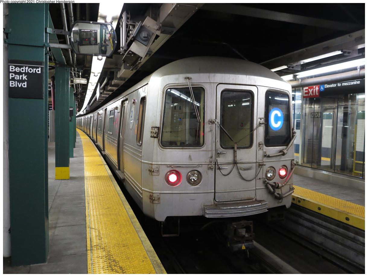 (384k, 1220x920)<br><b>Country:</b> United States<br><b>City:</b> New York<br><b>System:</b> New York City Transit<br><b>Line:</b> IND Concourse Line<br><b>Location:</b> Bedford Park Boulevard<br><b>Route:</b> C<br><b>Car:</b> R-46 (Pullman-Standard, 1974-75) 6010 <br><b>Photo by:</b> Christopher Henderson<br><b>Date:</b> 4/17/2021<br><b>Viewed (this week/total):</b> 29 / 82