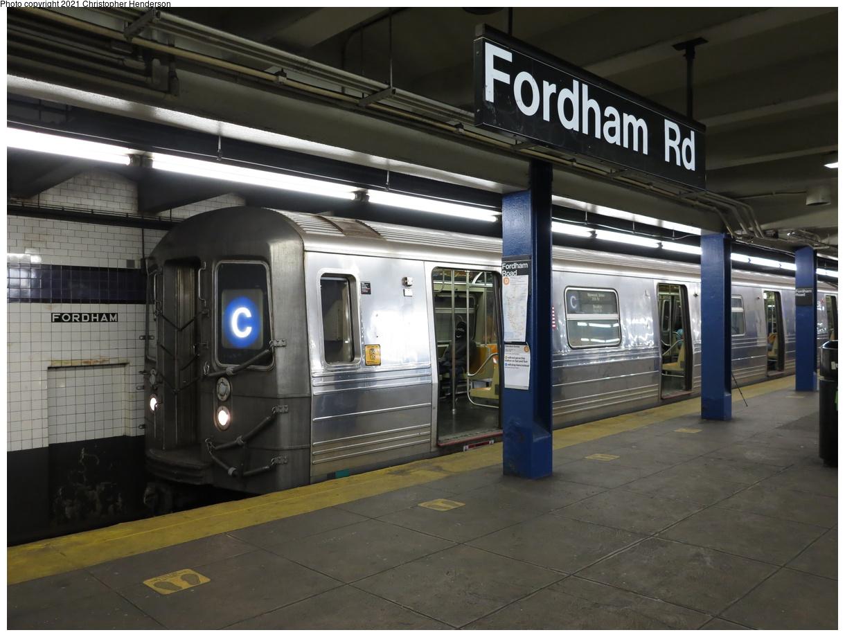 (362k, 1220x920)<br><b>Country:</b> United States<br><b>City:</b> New York<br><b>System:</b> New York City Transit<br><b>Line:</b> IND Concourse Line<br><b>Location:</b> Fordham Road<br><b>Route:</b> C<br><b>Car:</b> R-68 (Westinghouse-Amrail, 1986-1988) 2530 <br><b>Photo by:</b> Christopher Henderson<br><b>Date:</b> 4/25/2021<br><b>Viewed (this week/total):</b> 11 / 238
