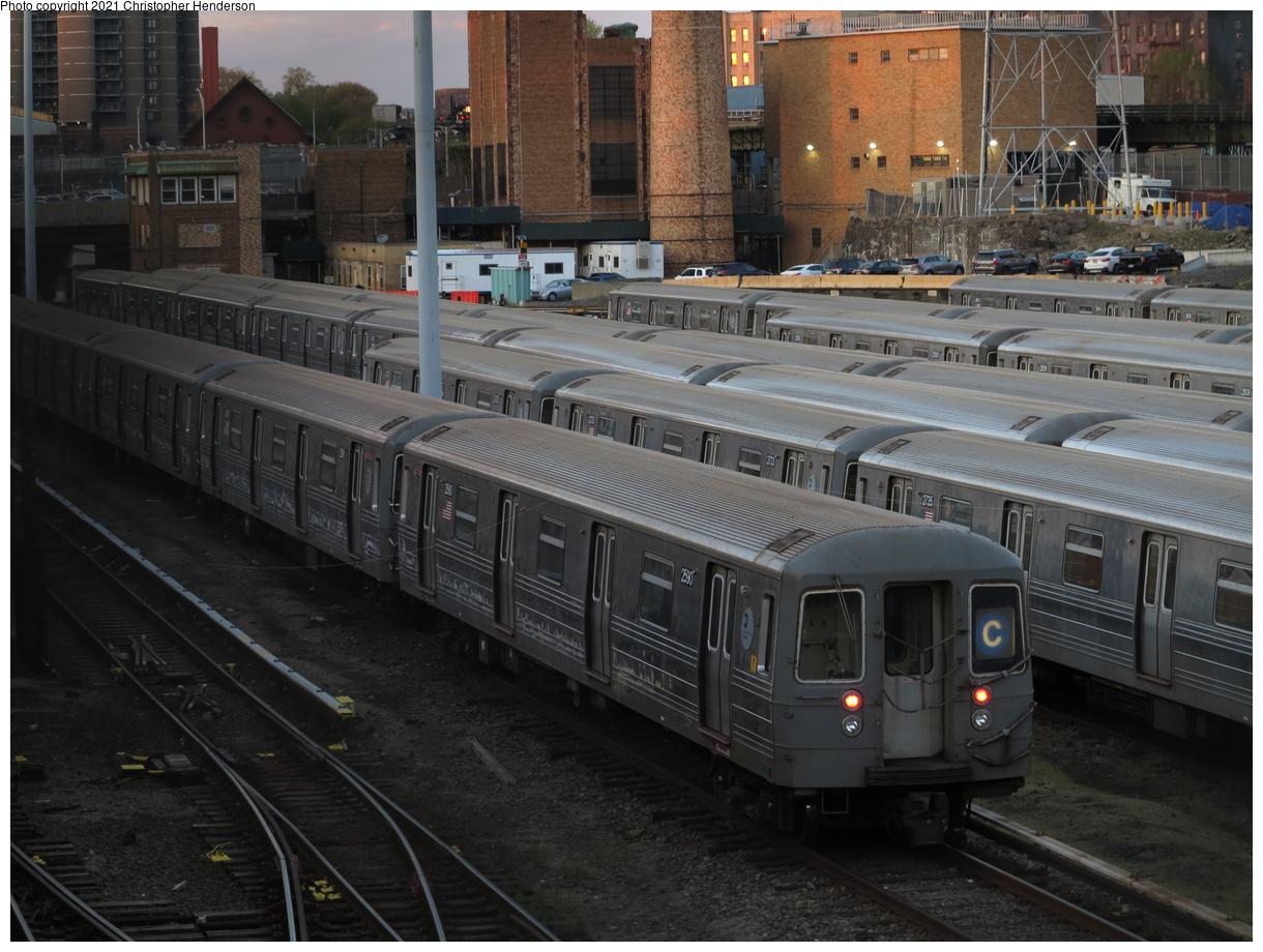 (414k, 1220x920)<br><b>Country:</b> United States<br><b>City:</b> New York<br><b>System:</b> New York City Transit<br><b>Location:</b> Concourse Yard<br><b>Car:</b> R-68 (Westinghouse-Amrail, 1986-1988) 2590 <br><b>Photo by:</b> Christopher Henderson<br><b>Date:</b> 4/25/2021<br><b>Viewed (this week/total):</b> 21 / 77