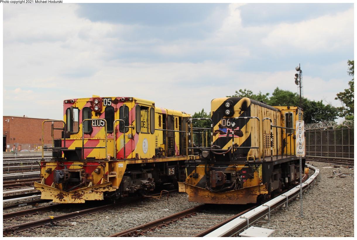 (428k, 1220x820)<br><b>Country:</b> United States<br><b>City:</b> New York<br><b>System:</b> New York City Transit<br><b>Location:</b> Fresh Pond Yard<br><b>Car:</b> R-47 Locomotive 64/EL05 <br><b>Photo by:</b> Michael Hodurski<br><b>Date:</b> 6/29/2019<br><b>Viewed (this week/total):</b> 0 / 111