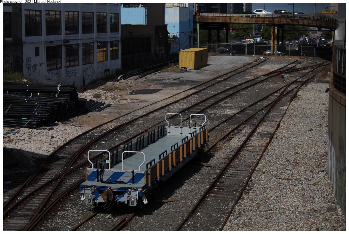 (532k, 1220x820)<br><b>Country:</b> United States<br><b>City:</b> New York<br><b>System:</b> New York City Transit<br><b>Line:</b> South Brooklyn Railway<br><b>Location:</b> 37th St Yard (between 3rd & 2nd Aves) (SBK)<br><b>Car:</b> Flat Car 805 <br><b>Photo by:</b> Michael Hodurski<br><b>Date:</b> 9/15/2019<br><b>Viewed (this week/total):</b> 16 / 142
