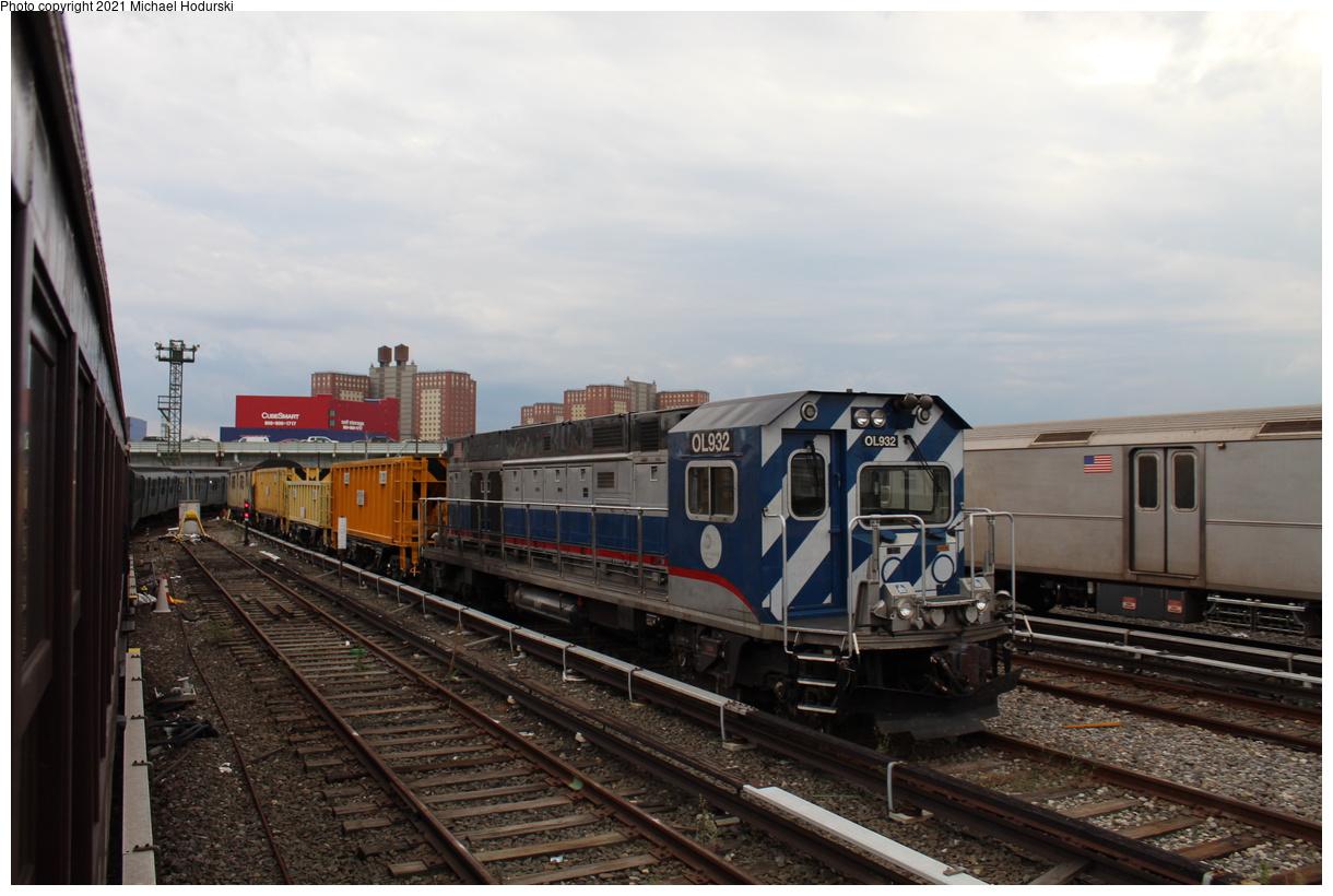 (351k, 1220x820)<br><b>Country:</b> United States<br><b>City:</b> New York<br><b>System:</b> New York City Transit<br><b>Location:</b> Coney Island Yard<br><b>Car:</b> R-156 Diesel-Electric Locomotive (MPI, 2012-2013) 932 <br><b>Photo by:</b> Michael Hodurski<br><b>Date:</b> 9/26/2019<br><b>Viewed (this week/total):</b> 0 / 88