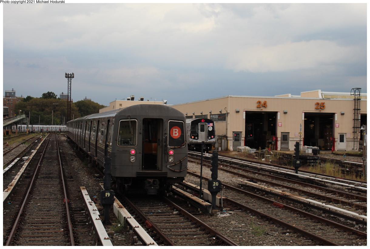 (368k, 1220x820)<br><b>Country:</b> United States<br><b>City:</b> New York<br><b>System:</b> New York City Transit<br><b>Location:</b> Coney Island Yard<br><b>Car:</b> R-68A (Kawasaki, 1988-1989) 5022 <br><b>Photo by:</b> Michael Hodurski<br><b>Date:</b> 9/26/2019<br><b>Viewed (this week/total):</b> 0 / 123