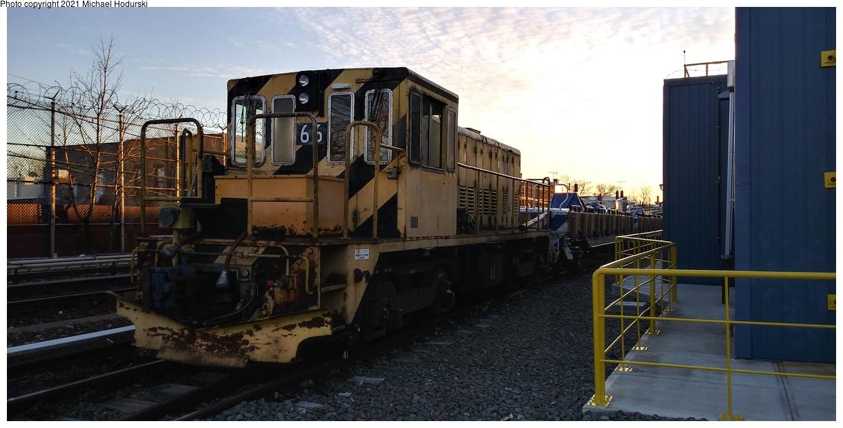 (265k, 1220x620)<br><b>Country:</b> United States<br><b>City:</b> New York<br><b>System:</b> New York City Transit<br><b>Location:</b> Fresh Pond Yard<br><b>Car:</b> R-47 Locomotive 66 <br><b>Photo by:</b> Michael Hodurski<br><b>Date:</b> 3/27/2020<br><b>Viewed (this week/total):</b> 0 / 63