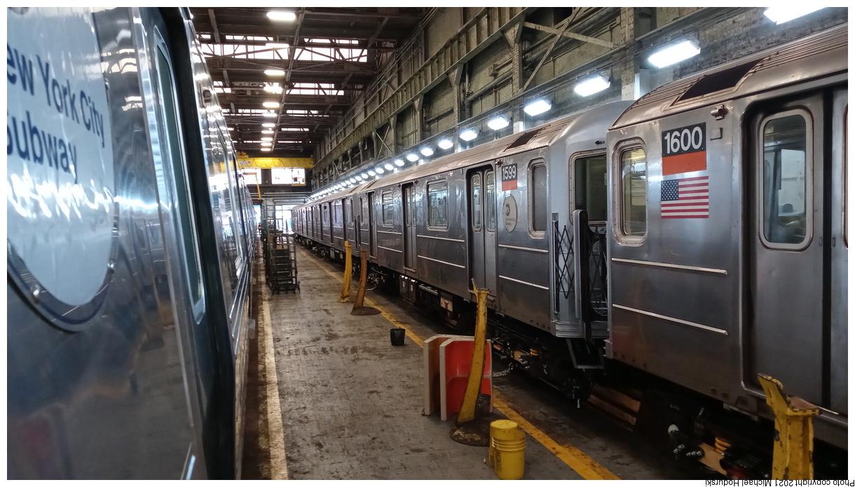 (350k, 1220x695)<br><b>Country:</b> United States<br><b>City:</b> New York<br><b>System:</b> New York City Transit<br><b>Location:</b> 207th Street Yard<br><b>Car:</b> R-62 (Kawasaki, 1983-1985) 1599 <br><b>Photo by:</b> Michael Hodurski<br><b>Date:</b> 7/2/2020<br><b>Viewed (this week/total):</b> 0 / 117