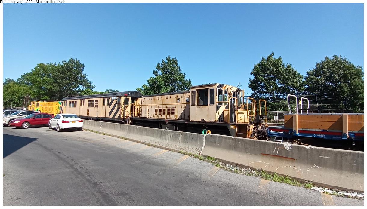 (408k, 1220x695)<br><b>Country:</b> United States<br><b>City:</b> New York<br><b>System:</b> New York City Transit<br><b>Location:</b> Fresh Pond Yard<br><b>Car:</b> R-47 Locomotive 68 <br><b>Photo by:</b> Michael Hodurski<br><b>Date:</b> 7/9/2020<br><b>Viewed (this week/total):</b> 0 / 88