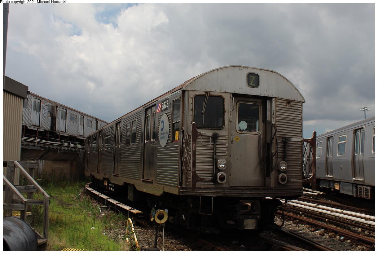 (358k, 1220x820)<br><b>Country:</b> United States<br><b>City:</b> New York<br><b>System:</b> New York City Transit<br><b>Location:</b> Fresh Pond Yard<br><b>Car:</b> R-32 (Budd, 1964) 3873 <br><b>Photo by:</b> Michael Hodurski<br><b>Date:</b> 7/15/2020<br><b>Viewed (this week/total):</b> 0 / 115