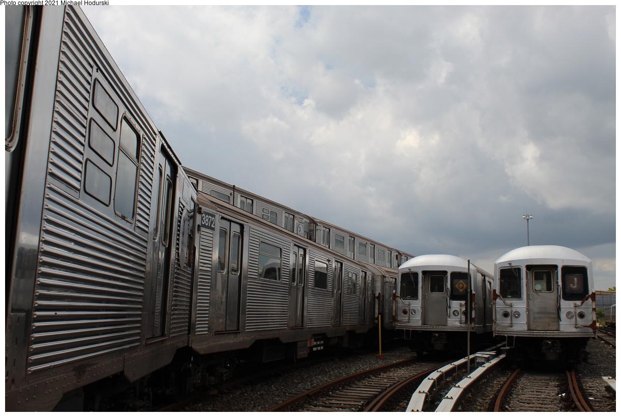 (352k, 1220x820)<br><b>Country:</b> United States<br><b>City:</b> New York<br><b>System:</b> New York City Transit<br><b>Location:</b> Fresh Pond Yard<br><b>Car:</b> R-32 (Budd, 1964) 3873 <br><b>Photo by:</b> Michael Hodurski<br><b>Date:</b> 7/15/2020<br><b>Viewed (this week/total):</b> 0 / 132