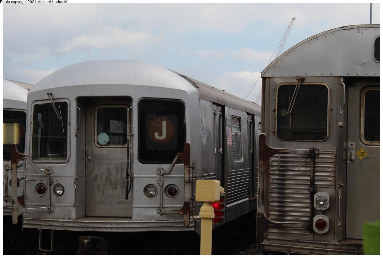 (282k, 1220x820)<br><b>Country:</b> United States<br><b>City:</b> New York<br><b>System:</b> New York City Transit<br><b>Location:</b> Fresh Pond Yard<br><b>Car:</b> R-42 (St. Louis, 1969-1970) 4828 <br><b>Photo by:</b> Michael Hodurski<br><b>Date:</b> 7/15/2020<br><b>Viewed (this week/total):</b> 1 / 88