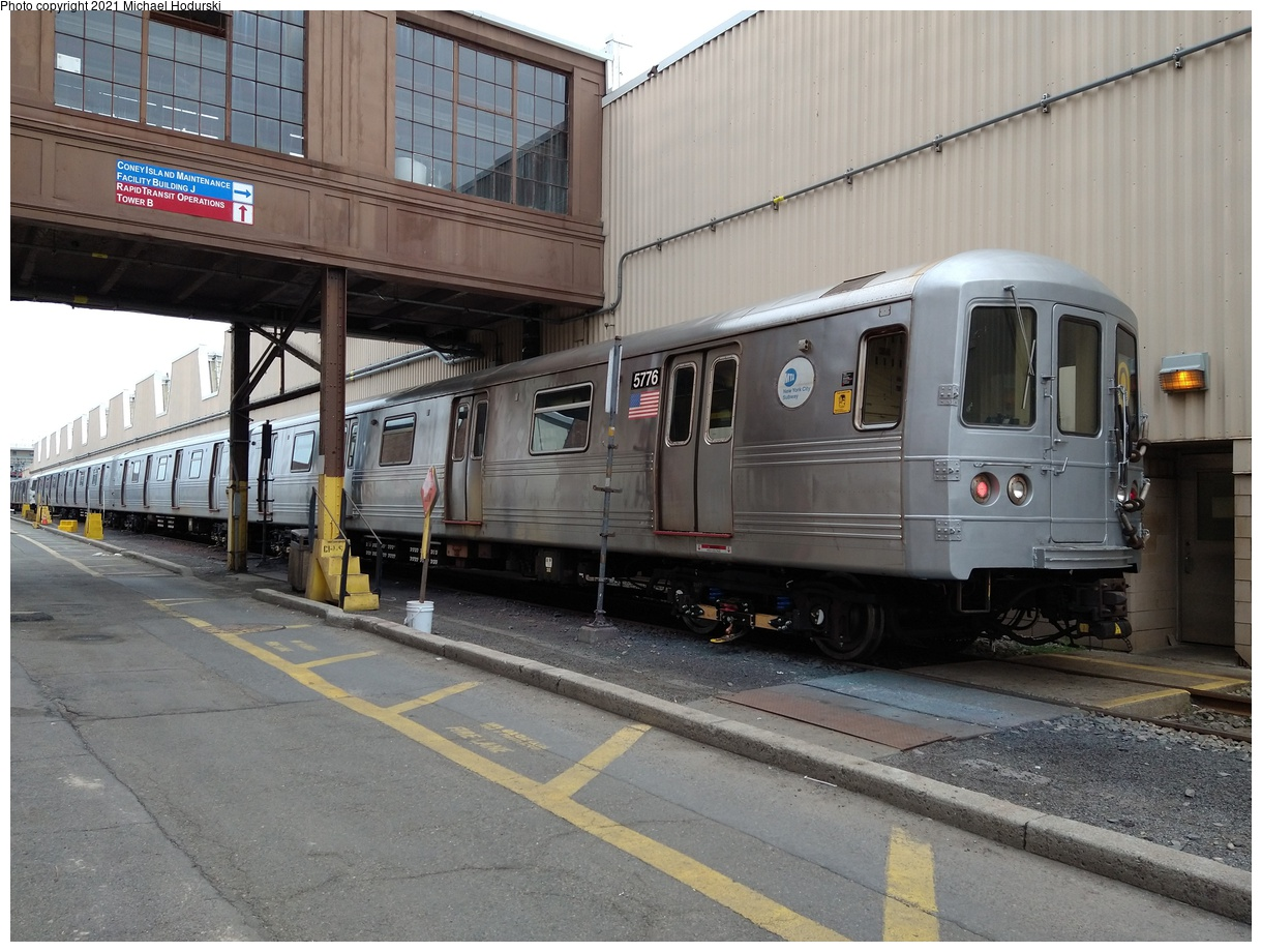(395k, 1220x920)<br><b>Country:</b> United States<br><b>City:</b> New York<br><b>System:</b> New York City Transit<br><b>Location:</b> Coney Island Yard<br><b>Car:</b> R-46 (Pullman-Standard, 1974-75) 5776 <br><b>Photo by:</b> Michael Hodurski<br><b>Date:</b> 6/12/2021<br><b>Viewed (this week/total):</b> 0 / 205