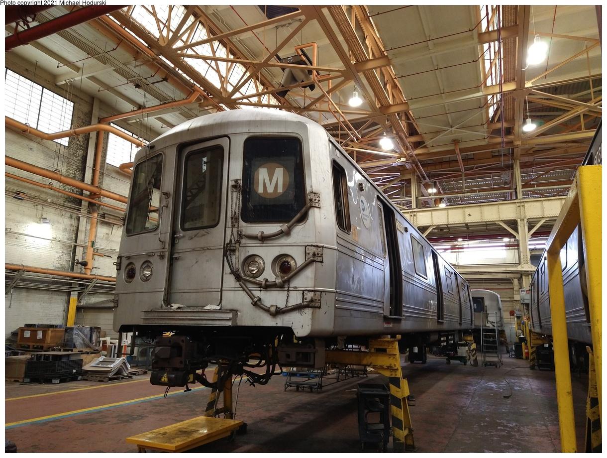 (556k, 1220x920)<br><b>Country:</b> United States<br><b>City:</b> New York<br><b>System:</b> New York City Transit<br><b>Location:</b> Coney Island Shop/Overhaul & Repair Shop<br><b>Car:</b> R-46 (Pullman-Standard, 1974-75) 6030 <br><b>Photo by:</b> Michael Hodurski<br><b>Date:</b> 6/12/2021<br><b>Viewed (this week/total):</b> 0 / 222