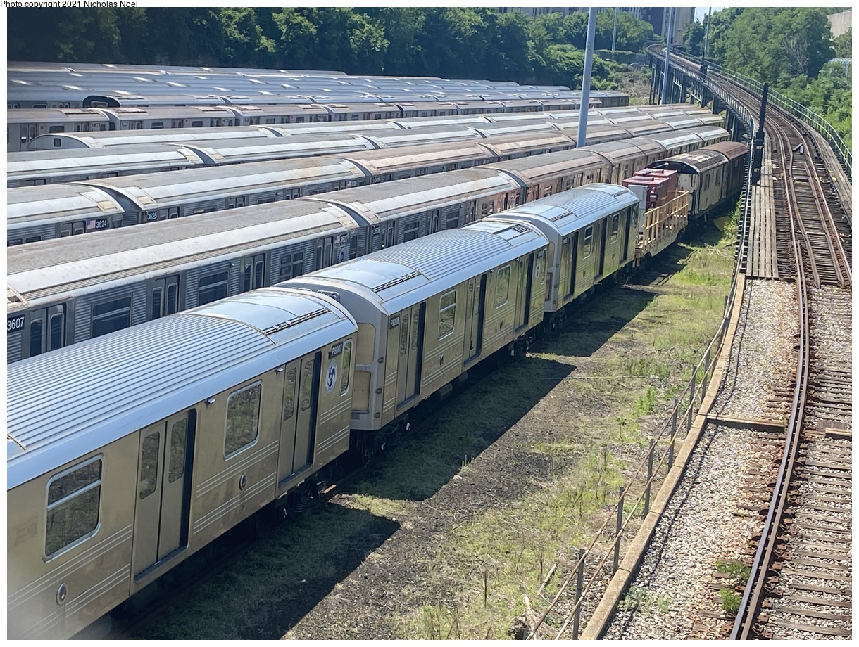 (590k, 1220x920)<br><b>Country:</b> United States<br><b>City:</b> New York<br><b>System:</b> New York City Transit<br><b>Location:</b> Concourse Yard<br><b>Car:</b> R-110A Pump Train Conversion P8007-P8008-P8009 <br><b>Photo by:</b> Nicholas Noel<br><b>Date:</b> 6/6/2021<br><b>Viewed (this week/total):</b> 0 / 176