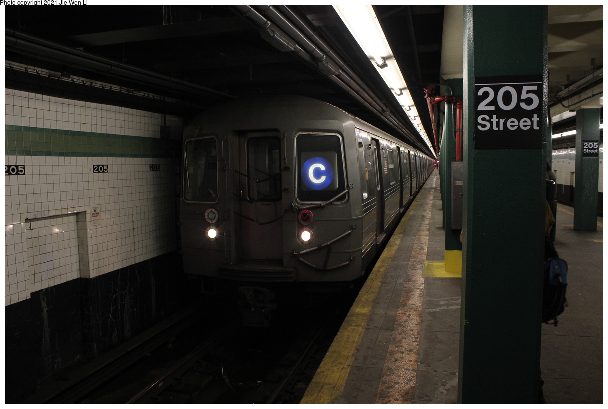 (311k, 1220x820)<br><b>Country:</b> United States<br><b>City:</b> New York<br><b>System:</b> New York City Transit<br><b>Line:</b> IND Concourse Line<br><b>Location:</b> 205th Street<br><b>Route:</b> C<br><b>Car:</b> R-68 (Westinghouse-Amrail, 1986-1988) 2514 <br><b>Photo by:</b> Jie Wen Li<br><b>Date:</b> 4/17/2021<br><b>Notes:</b> Borrowed from the D line due to the C being rerouted to Norwood-205 St.<br><b>Viewed (this week/total):</b> 3 / 48