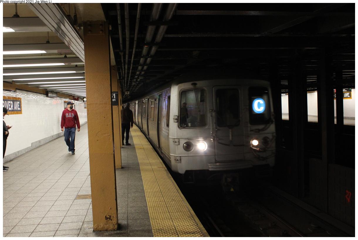 (318k, 1220x820)<br><b>Country:</b> United States<br><b>City:</b> New York<br><b>System:</b> New York City Transit<br><b>Line:</b> IND Concourse Line<br><b>Location:</b> 161st Street-River Avenue (Yankee Stadium)<br><b>Route:</b> C<br><b>Car:</b> R-46 (Pullman-Standard, 1974-75) 5970 <br><b>Photo by:</b> Jie Wen Li<br><b>Date:</b> 4/18/2021<br><b>Notes:</b> Reroute to Norwood-205 St.<br><b>Viewed (this week/total):</b> 3 / 89