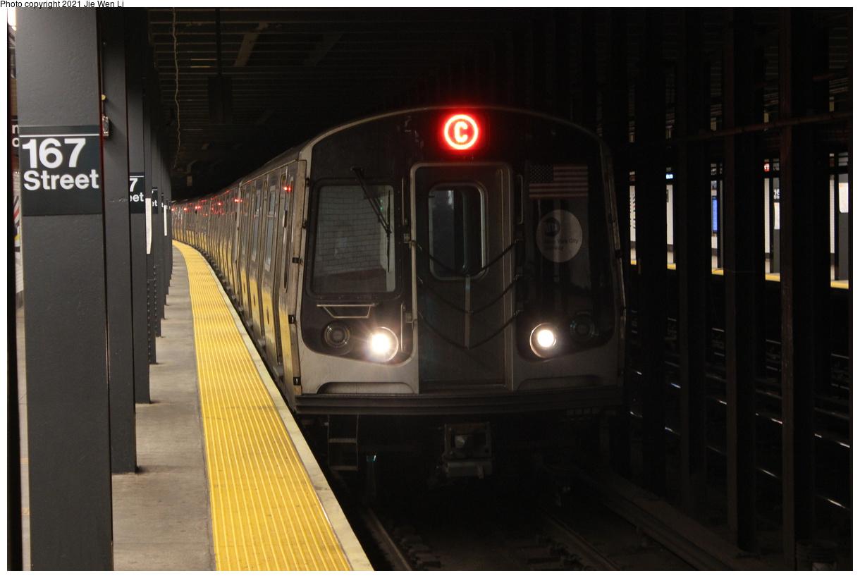 (294k, 1220x820)<br><b>Country:</b> United States<br><b>City:</b> New York<br><b>System:</b> New York City Transit<br><b>Line:</b> IND Concourse Line<br><b>Location:</b> 167th Street<br><b>Route:</b> C<br><b>Car:</b> R-179 (Bombardier, 2016-2019) 3189 <br><b>Photo by:</b> Jie Wen Li<br><b>Date:</b> 4/25/2021<br><b>Notes:</b> Reroute to Norwood-205 St<br><b>Viewed (this week/total):</b> 2 / 70