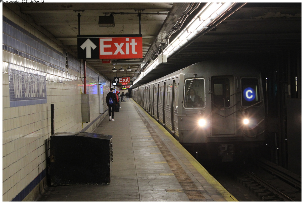 (350k, 1220x820)<br><b>Country:</b> United States<br><b>City:</b> New York<br><b>System:</b> New York City Transit<br><b>Line:</b> IND Fulton Street Line<br><b>Location:</b> Van Siclen Avenue<br><b>Route:</b> C<br><b>Car:</b> R-68 (Westinghouse-Amrail, 1986-1988) 2530 <br><b>Photo by:</b> Jie Wen Li<br><b>Date:</b> 4/25/2021<br><b>Notes:</b> Borrowed from the D line due to the C being rerouted to Norwood-205 St<br><b>Viewed (this week/total):</b> 3 / 49
