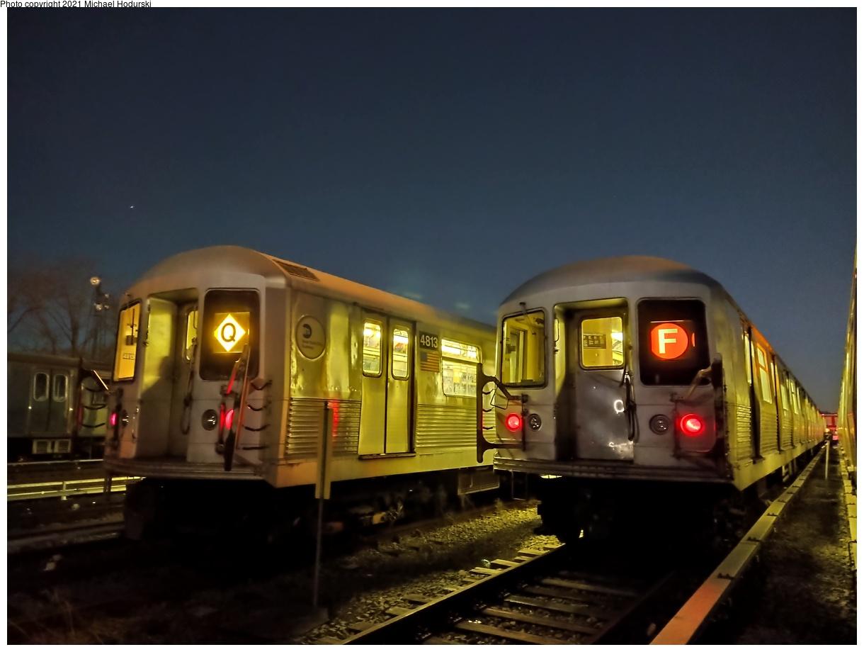(405k, 1220x920)<br><b>Country:</b> United States<br><b>City:</b> New York<br><b>System:</b> New York City Transit<br><b>Location:</b> Fresh Pond Yard<br><b>Car:</b> R-42 (St. Louis, 1969-1970) 4813 <br><b>Photo by:</b> Michael Hodurski<br><b>Date:</b> 1/28/2021<br><b>Viewed (this week/total):</b> 0 / 352