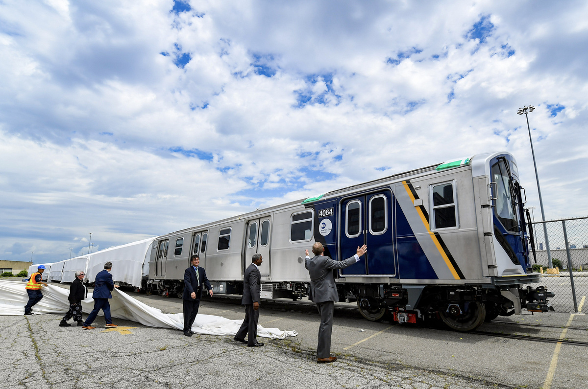 (421k, 1200x795)<br><b>Country:</b> United States<br><b>City:</b> New York<br><b>System:</b> New York City Transit<br><b>Car:</b> R-211 (Kawasaki, 2021-) 4064 <br><b>Photo by:</b> Marc A. Hermann / Metropolitan Transportation Authority<br><b>Date:</b> 7/1/2021<br><b>License:</b> <a href=https://creativecommons.org/licenses/by/2.0/>Creative Commons Attribution 2.0 Generic</a> via Flickr. <br><b>Notes:</b> Unveiling of the R-211 press event.<br><b>Viewed (this week/total):</b> 5 / 297