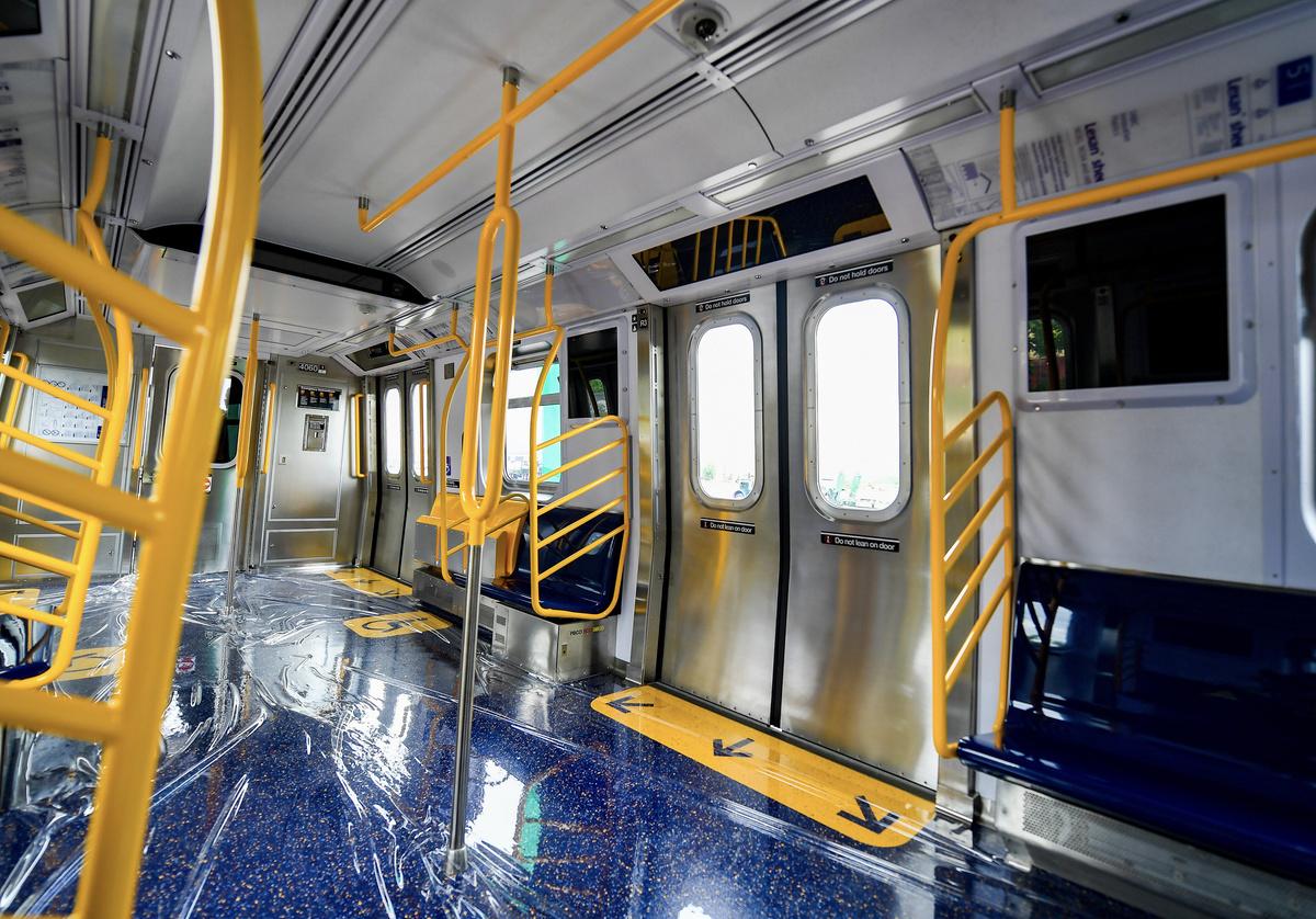 (532k, 1200x838)<br><b>Country:</b> United States<br><b>City:</b> New York<br><b>System:</b> New York City Transit<br><b>Car:</b> R-211 (Kawasaki, 2021-) 4060 <br><b>Photo by:</b> Marc A. Hermann / Metropolitan Transportation Authority<br><b>Date:</b> 7/1/2021<br><b>License:</b> <a href=https://creativecommons.org/licenses/by/2.0/>Creative Commons Attribution 2.0 Generic</a> via Flickr. <br><b>Notes:</b> Unveiling of the R-211 press event.<br><b>Viewed (this week/total):</b> 8 / 440
