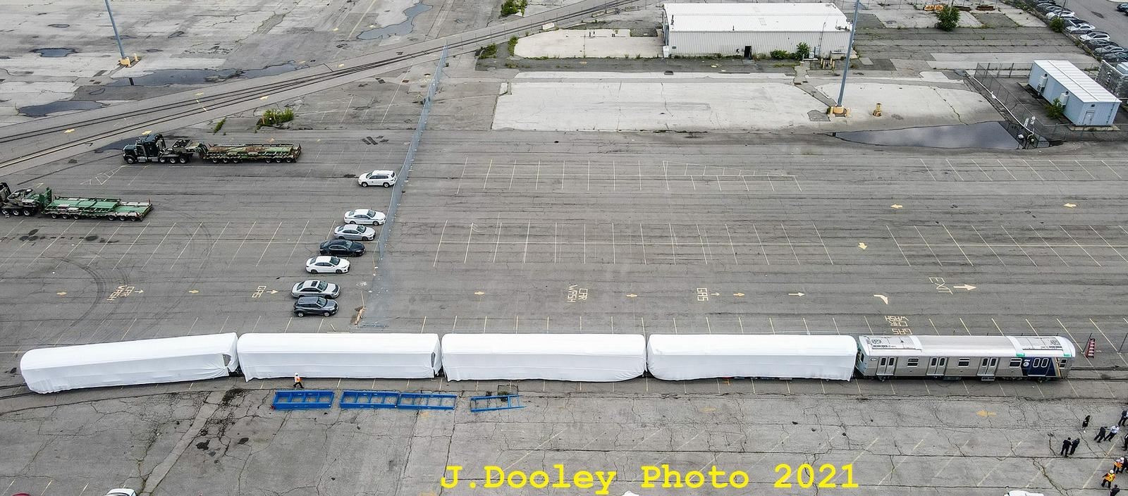 (583k, 1600x704)<br><b>Country:</b> United States<br><b>City:</b> New York<br><b>System:</b> New York City Transit<br><b>Car:</b> R-211 (Kawasaki, 2021-)  <br><b>Photo by:</b> John Dooley<br><b>Date:</b> 7/1/2021<br><b>Notes:</b> R-211 delivery and press conference.<br><b>Viewed (this week/total):</b> 0 / 197