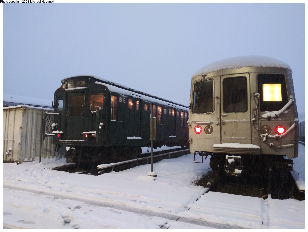 (313k, 1220x920)<br><b>Country:</b> United States<br><b>City:</b> New York<br><b>System:</b> New York City Transit<br><b>Location:</b> 207th Street Yard<br><b>Car:</b> R-9 (Pressed Steel, 1940) 1802 <br><b>Photo by:</b> Michael Hodurski<br><b>Date:</b> 11/1/2018<br><b>Viewed (this week/total):</b> 3 / 417