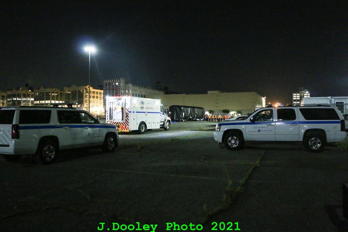 (325k, 1200x800)<br><b>Country:</b> United States<br><b>City:</b> New York<br><b>System:</b> New York City Transit<br><b>Car:</b> R-211 (Kawasaki, 2021-)  <br><b>Photo by:</b> John Dooley<br><b>Date:</b> 6/29/2021<br><b>Notes:</b> Night-time delivery of first R-211 cars.<br><b>Viewed (this week/total):</b> 0 / 80