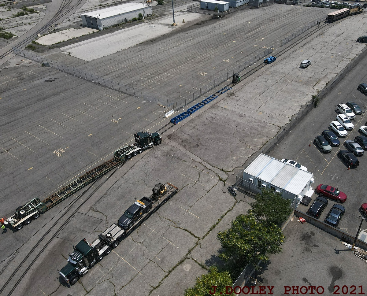 (648k, 1200x968)<br><b>Country:</b> United States<br><b>City:</b> New York<br><b>System:</b> New York City Transit<br><b>Line:</b> South Brooklyn Railway<br><b>Location:</b> SBK Yard (2nd Ave at 38th St.) (SBK)<br><b>Car:</b> BMT Elevated Gate Car 1273 <br><b>Photo by:</b> John Dooley<br><b>Date:</b> 7/6/2021<br><b>Notes:</b> BMT gate car 1273 appeared in NYC Hometown Heroes parade 7/7/2021.<br><b>Viewed (this week/total):</b> 1 / 172