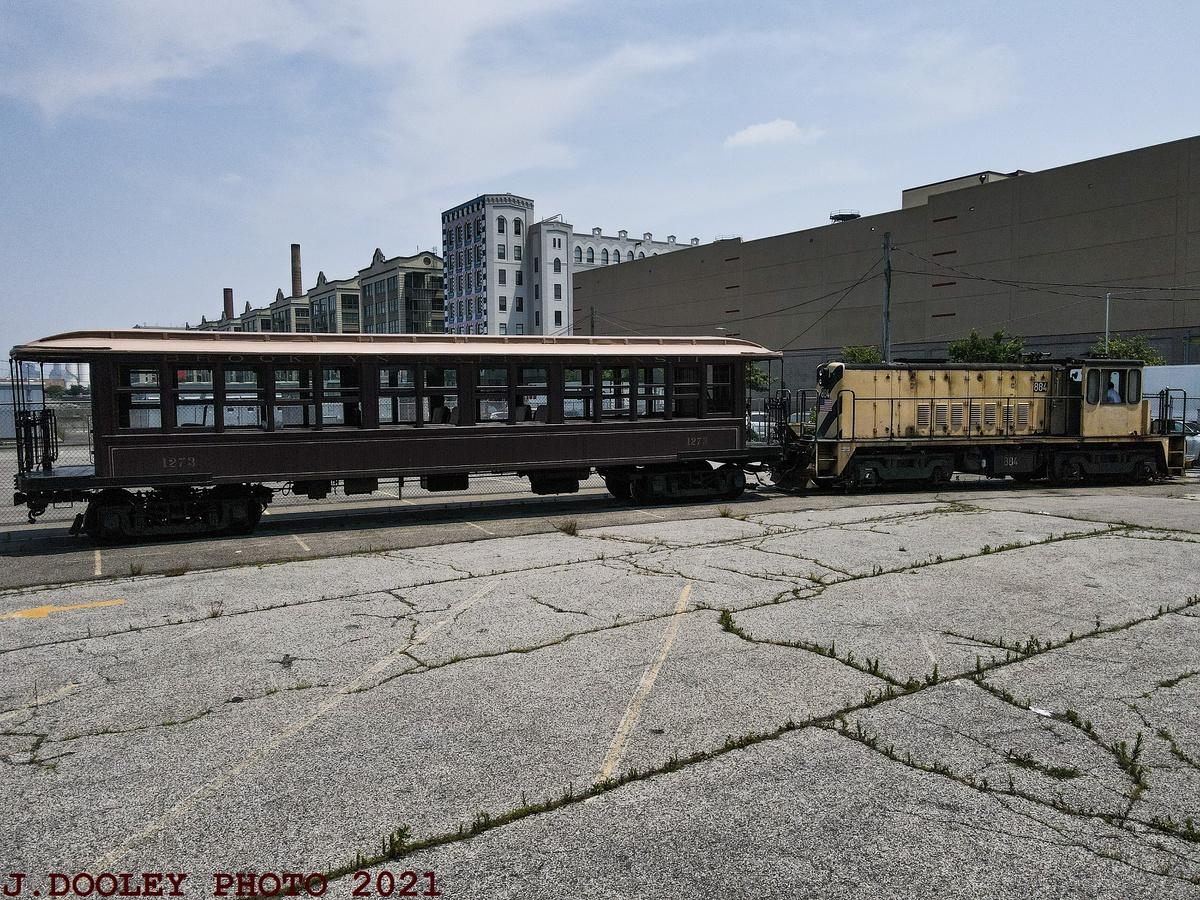 (589k, 1200x900)<br><b>Country:</b> United States<br><b>City:</b> New York<br><b>System:</b> New York City Transit<br><b>Line:</b> South Brooklyn Railway<br><b>Location:</b> SBK Yard (2nd Ave at 38th St.) (SBK)<br><b>Car:</b> BMT Elevated Gate Car 1273 <br><b>Photo by:</b> John Dooley<br><b>Date:</b> 7/6/2021<br><b>Notes:</b> BMT gate car 1273 appeared in NYC Hometown Heroes parade 7/7/2021.<br><b>Viewed (this week/total):</b> 1 / 127