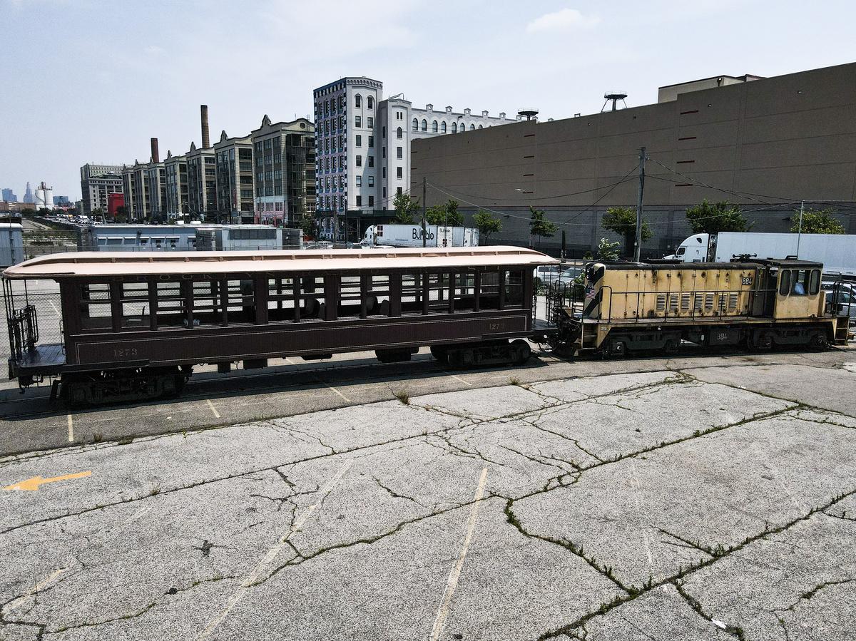 (685k, 1200x899)<br><b>Country:</b> United States<br><b>City:</b> New York<br><b>System:</b> New York City Transit<br><b>Line:</b> South Brooklyn Railway<br><b>Location:</b> SBK Yard (2nd Ave at 38th St.) (SBK)<br><b>Car:</b> BMT Elevated Gate Car 1273 <br><b>Photo by:</b> John Dooley<br><b>Date:</b> 7/6/2021<br><b>Notes:</b> BMT gate car 1273 appeared in NYC Hometown Heroes parade 7/7/2021.<br><b>Viewed (this week/total):</b> 24 / 516